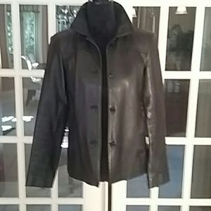 Anne Taylor lamb leather jacket